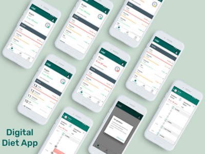 Digital Diet App material design mobile app diet digital