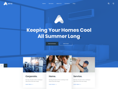 Aira - Conditioning & HVAC Repair WordPress Theme