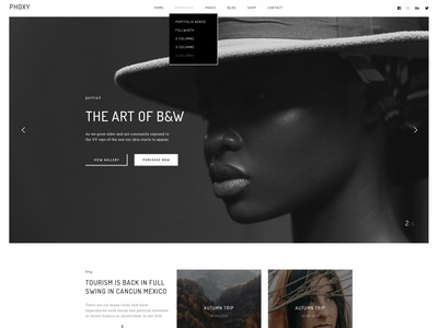 Phoxy - Photography WordPress Theme gallery parallax responsive photography creative design typography portfolio wordpress theme modern agency wordpress design wordpress development wordpress webdesign upqode
