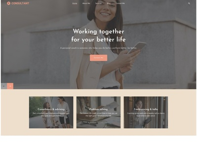 Karma Life Coach coach consulting services design business professional creative typography wordpress webdesign wordpress design wordpress theme upqode