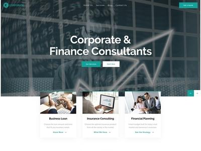 Karma Corporate finance multipurpose wordpress corporate typography design business wordpress theme wordpress design wordpress development wordpress webdesign upqode