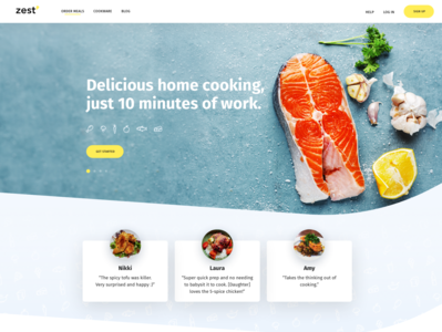 Zest Cooking food culinary recipes cooking branding creative design typography professional wordpress design wordpress development wordpress webdesign upqode
