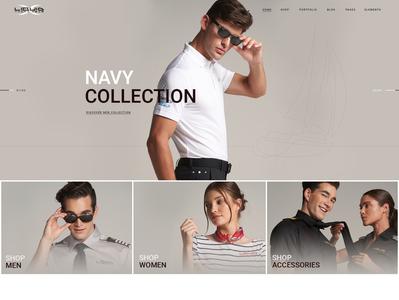Liquid Yacht Wear mobile store shop yacht yacht club wear creative design modern typography professional webdesign upqode