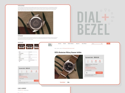 Dia l& Bezel collection watches auction agency design typography professional business wordpress design wordpress development wordpress webdesign upqode