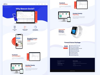 Beacon Social marketing site agency design typography professional business wordpress design wordpress development wordpress webdesign upqode