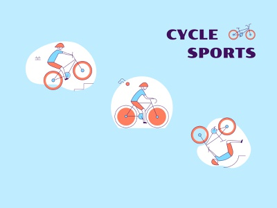 Outdoor Activity - Cycle Sports cycle sport icon design icons set icons outdooractivity outdoor illustration professional design upqode