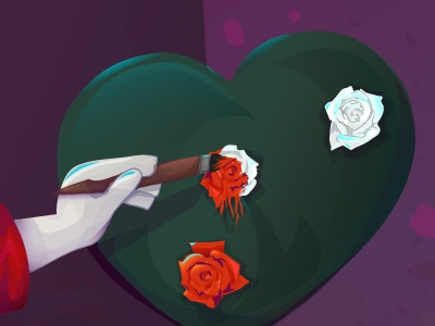 WIP - Paint The Roses Red alice in wonderland alice madness alice roses vector illustration