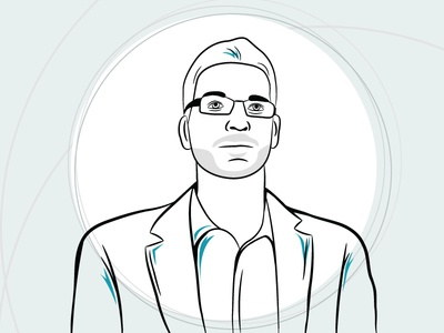 Portrait Line Art portrait illustration vector business innovation factory