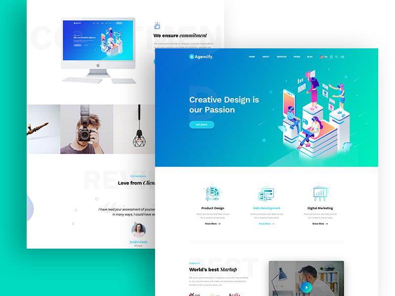 Agmycoo Isometric Agency Creative Portfolio Html Template