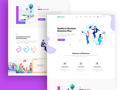 Agmycoo - Isometric Agency Creative Portfolio Html Template character isometric design design vector branding website web ux ui typography isometric illustration design illustration