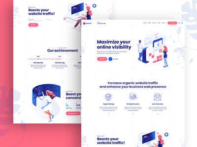Seocify Seo And Digital Marketing Agency Wordpress Theme agency branding portfolio agency wordpress development wordpress design wordpress agency landing page animation typography vector design isometric design isometric illustration design illustration branding website web ux ui
