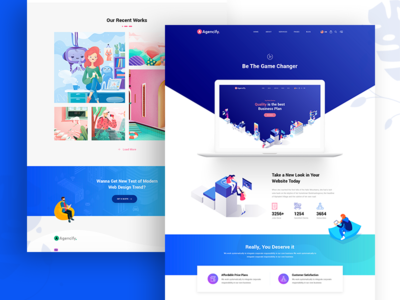 Agmycoo Isometric Agency Creative Portfolio WordPress Theme
