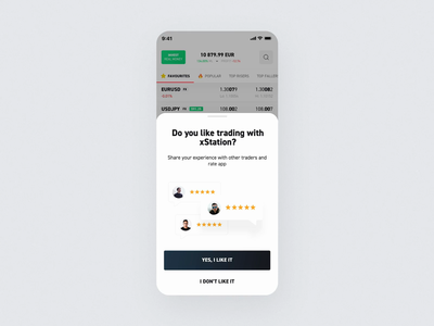 xStation Mobile - Rating app typography interface 2020 popup finance feedback thanks confetti star ui ui  ux ae animation interaction microinteraction ios mobile xstation app rating