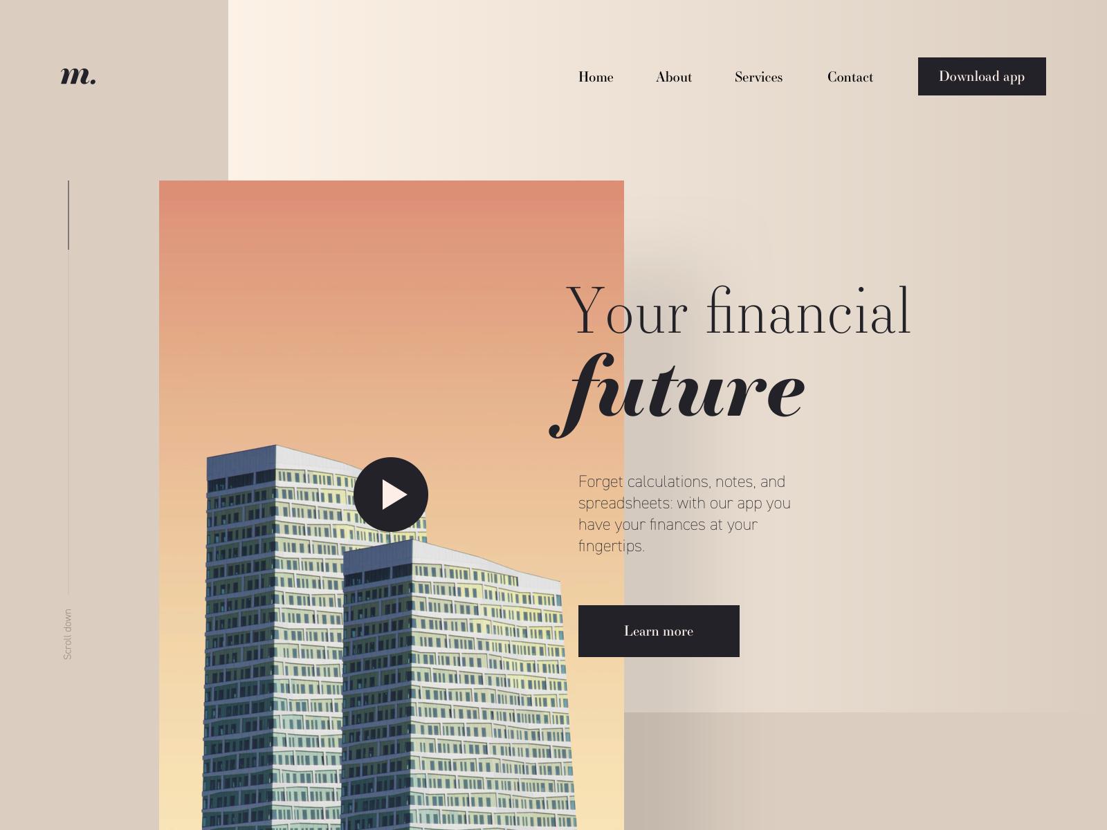 Financial Website Freebie By Artur Choinski On Dribbble