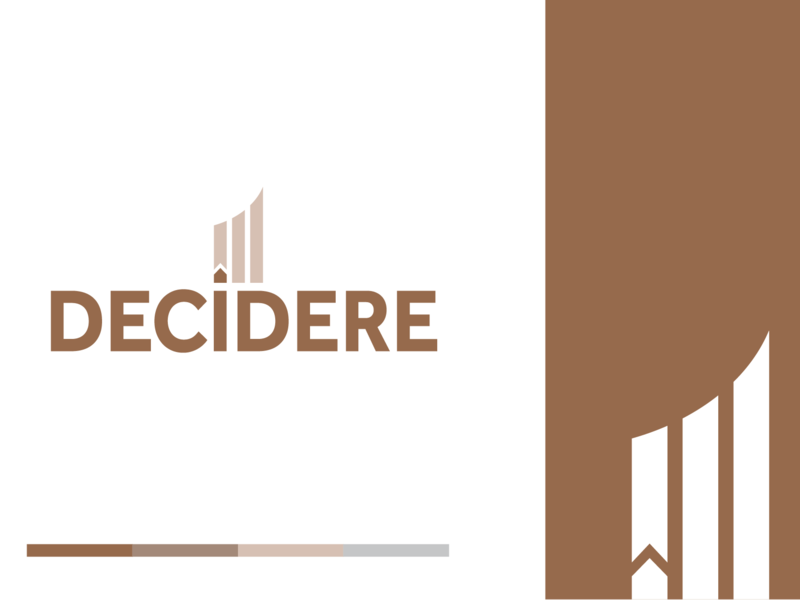 Decidere Logo minimal type flat icon vector typography branding illustration design logo