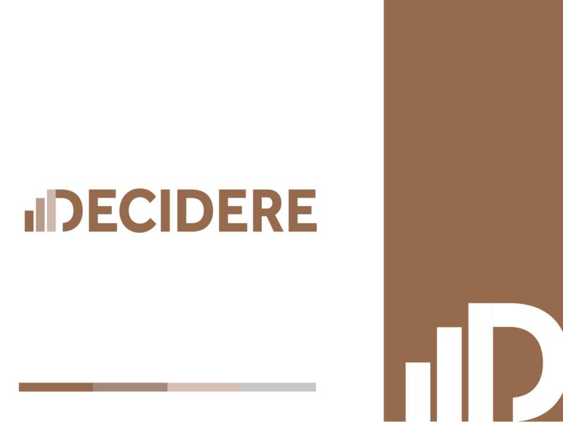 Decidere Logo Idea illustrator typography type vector branding design flat icon minimal illustration logo