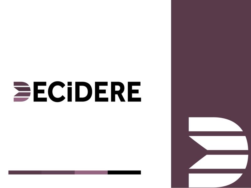 Decidere Logo Idea 2 design branding illustrator vector typography type minimal logo icon