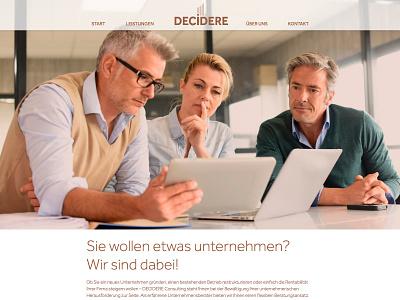 Decidere Consulting Website adobe xd branding web ux ui design