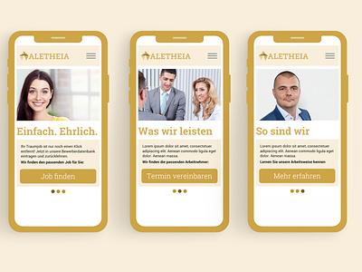 iPhoneX Mockup Website Aletheia web ux design flat minimal ui ui design