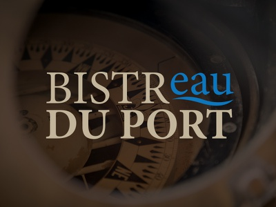 Bistreau Du Port photography graphic design logo
