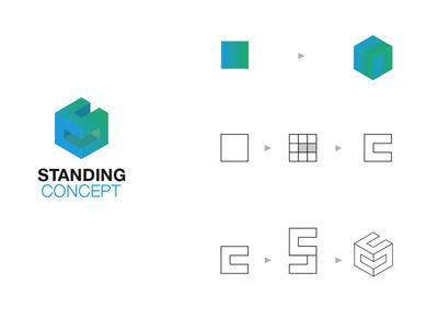 Standing Concept logo graphic design