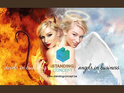 Standing Concept visual design graphic