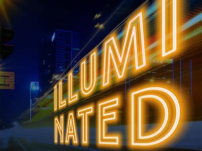 Illuminated poster photoshop poster design graphic design
