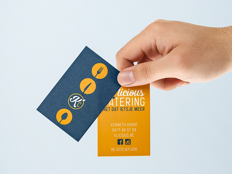 K'licious Catering business cards branding graphic design logo graphic design