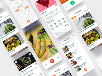 Nutritional Info App macros nutritionist nutrition facts meal prep recipe nutrition clean product design ios interaction mobile iphone app ux ui