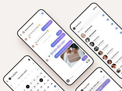 Task Management App track time schedule employee work messenger record voice sms chat clean saas product design ios interaction mobile iphone app ux ui