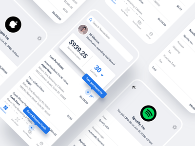 Finance App payment spending debt funds transfer savings flutter finance banking bank wallet saas product design ios interaction mobile iphone app ux ui