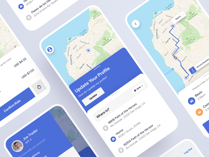 On Demand Rides material phone saas app react android map flatdesign ride flutter on demand uber saas product design ios interaction mobile iphone app ux ui