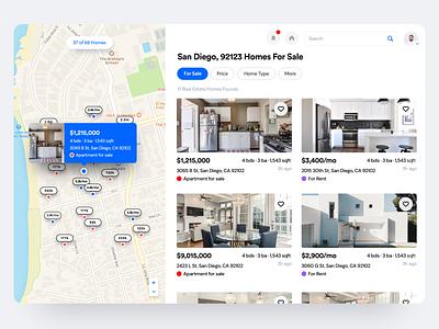 Real Estate Booking App landing finance loan buy rent house agent booking real estate desktop flat dashboard react clean saas product design interaction app ux ui