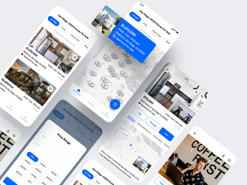 Booking App react android landing booking buy sell home rent real estate zillow flutter saas product design iphone ios mobile interaction app ux ui