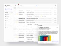 Email Client Dashboard clients interaction design hybrid app web app web composer clean ui react dashboard dekstop client email clean saas product design interaction app ux ui