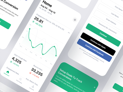 Analytics App clean rates data visualization data graphs stats dashboad analytics react android flutter saas product design ios mobile iphone interaction app ux ui