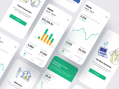 Web Analytics Mobile App data visualization data kpi seo stats dashboad analytics revenue chart finance android saas product design ios mobile iphone interaction app ux ui