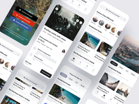 Travel App Concept location flutter android explore destination travel airbnb clean saas product design ios mobile iphone interaction app ux ui