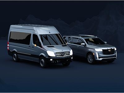 3D Cars for a Website Project website 3d art illustration graphic c4d modeling blender webdesig taas fleet saas uber render cars 3d