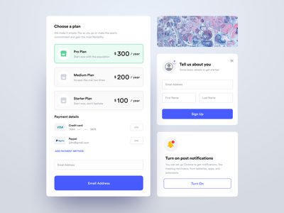 UI Components signup user experience user interface web design web ios design clean saas product design interaction app ux ui