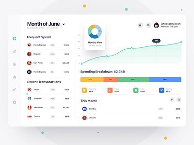 Banking App Dashboard figma finance desktop webdesign web dashboad bank bakning clean saas product design interaction app ux ui