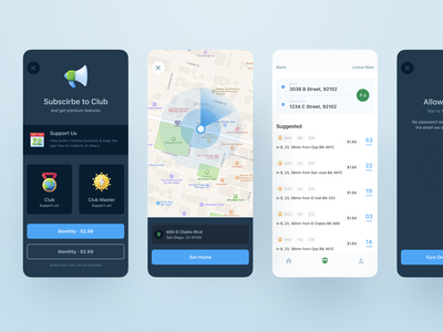 Public Transportation App software saas user experience user interface dark clean ios transport design mobile iphone product design interaction app ux ui