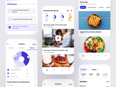 Macro Tracking App food nutrition health fitness calories clean tracking macro design mobile iphone product design interaction app ux ui