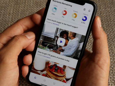Calorie Tracking App: Add food item flow scan food nutrition health tracking macro fitness calorie flow animation video prototype protopie mobile iphone product design interaction app ux ui