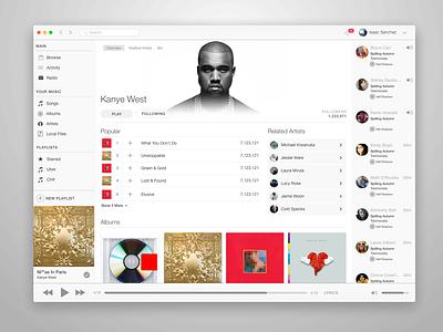 Spotify and Apple (.sketch) sketch free stream music app mac apple spotify gif ui