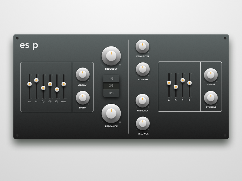 Synth plugin redesign (.sketch) skeuomorphic vst sketch free plugin synth ui