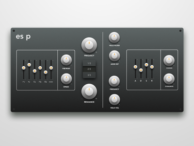 Synth plugin redesign (.sketch)