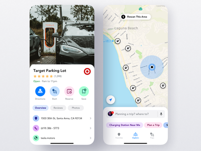 Mobile App for Finding Electric Car Charging Stations map station tesla electric car charging uber product design interaction ios app iphone mobile ux ui