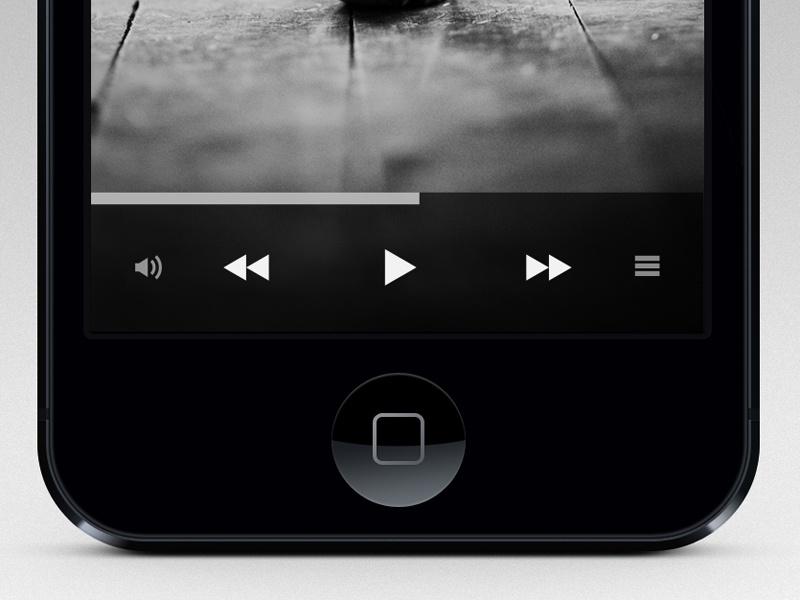 iPhone Music Player iphone ipod music player iu ux minimal black app ui