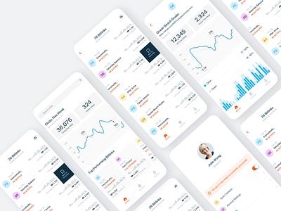 Link Generator App google analytics charts white product design interaction ios iphone app mobile ux ui